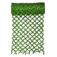 """30' x 12"""" Commercial Length Extra Wide Wired Mesh Green Tinsel Garland Ribbon"""