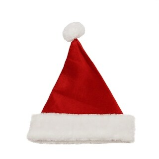"14"" Traditional Red and White Christmas Santa Hat - Medium"
