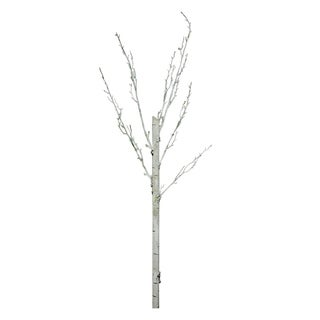 """44"""" White Decorative Artificial Crafting or Display Birch Tree Trunk"""