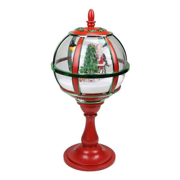 "Snowing And Musical Christmas Tree: Shop 23.5"" Lighted Red And Green Musical Snowing Santa"