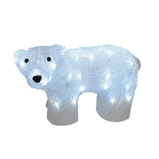 """12"""" Lighted Commercial Grade Acrylic Baby Bear Christmas Display Decoration"""