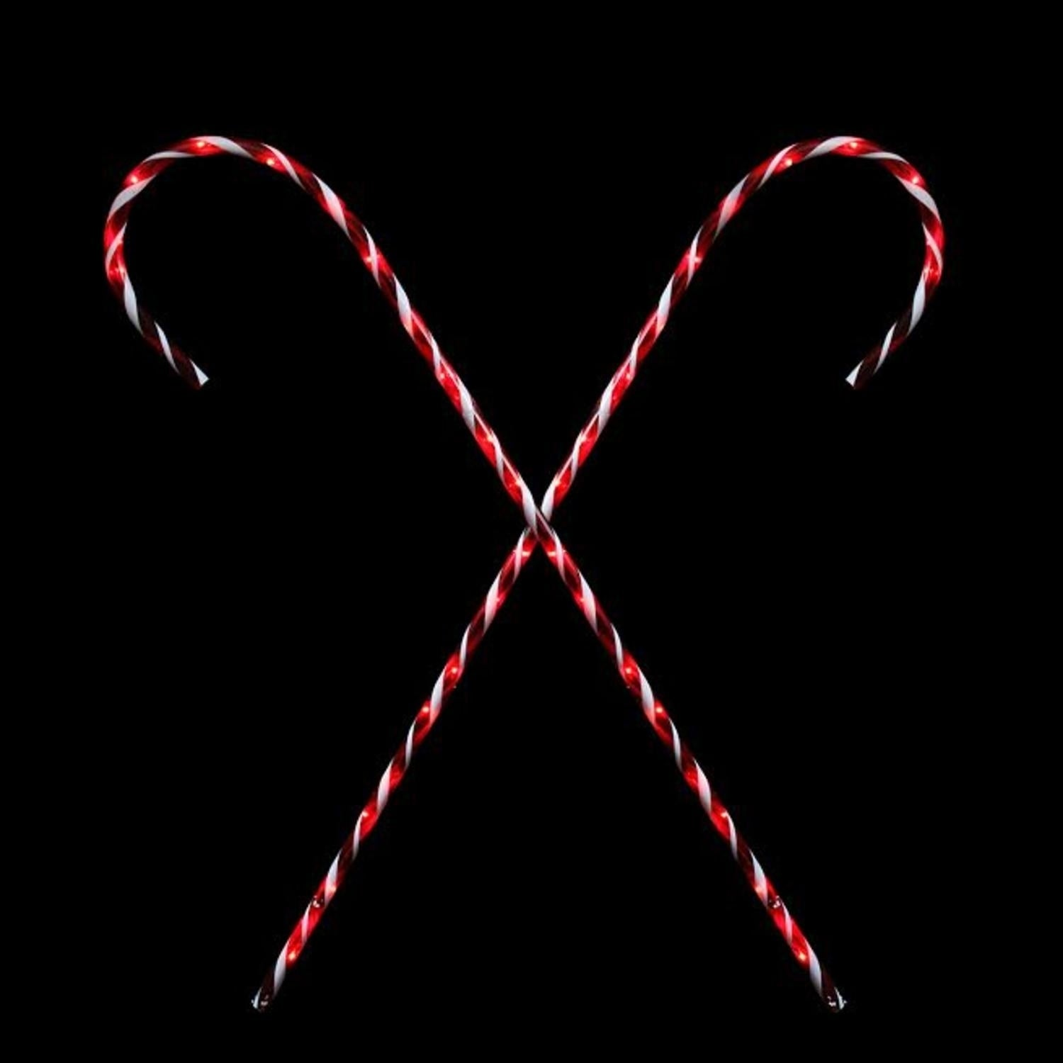 Sienna Set of 2 Peppermint Twist Giant Lighted Candy Cane...