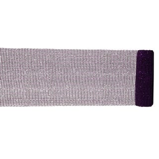 "Extra Wide Mesh Purple Sparkle Tinsel Christmas Ribbon 6"" x 4 Yards"