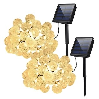 30 LED Crystal Balls Decorative Solar String Lights for Outdoor, Patio, Parties (Pack of 2)