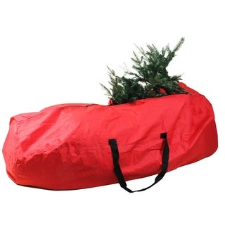 """56"""" Heavy Duty Large Red Rolling Artificial Christmas Tree Storage Bag for 7.5' Trees"""