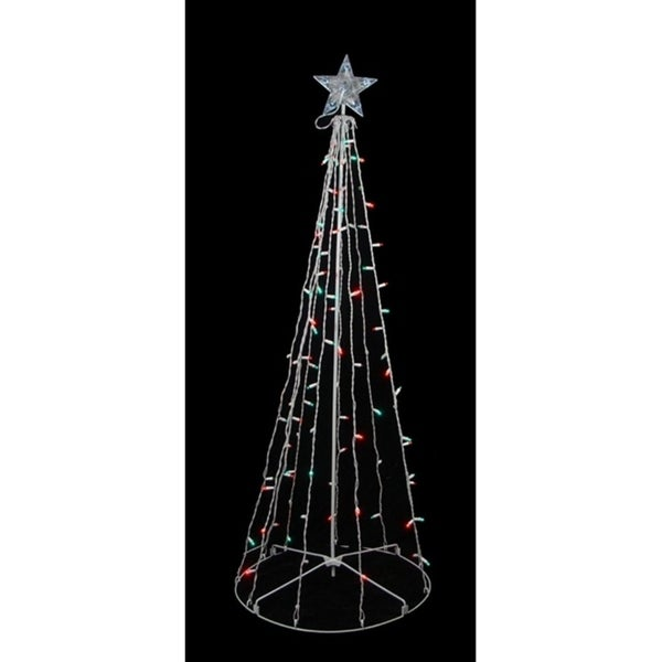5 red green led lighted outdoor twinkling christmas tree yard art - Lighted Christmas Tree Yard Decorations