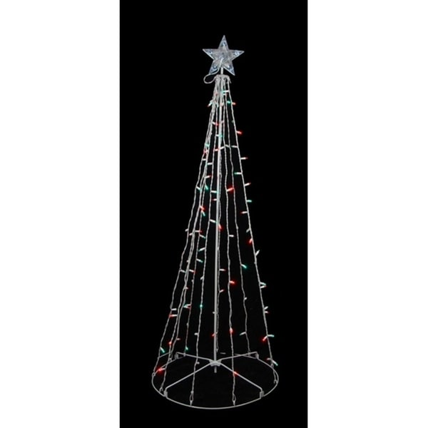 5 red green led lighted outdoor twinkling christmas tree yard art