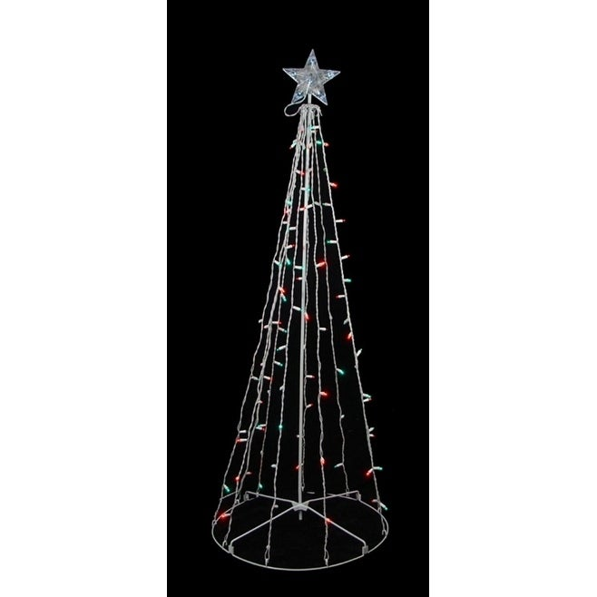 Sienna 5' Red & Green LED Lighted Outdoor Twinkling Chris...