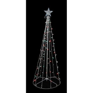 5' Red & Green LED Lighted Outdoor Twinkling Christmas Tree Yard Art Decoration