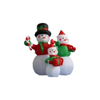 4' Inflatable Lighted Snowman Family Christmas Yard Art Decoration