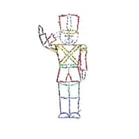 "60"" Pre-Lit Multi-Color LED Animotion Saluting Soldier Christmas Yard Art Decoration"