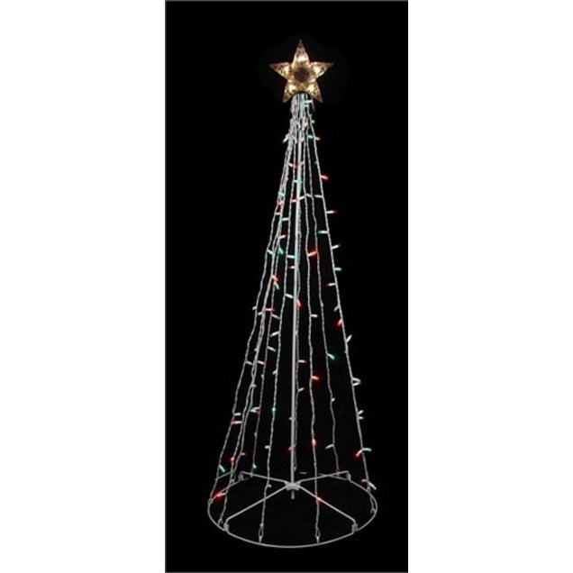 Sienna 6' Red and Green Lighted Outdoor Twinkling Christm...
