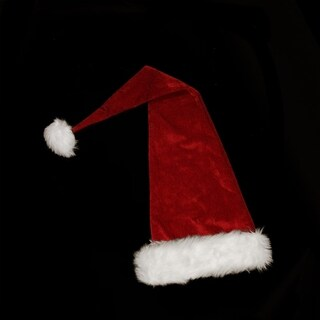 "36"" Extra Long Santa Claus Christmas Hat - Adult Size"