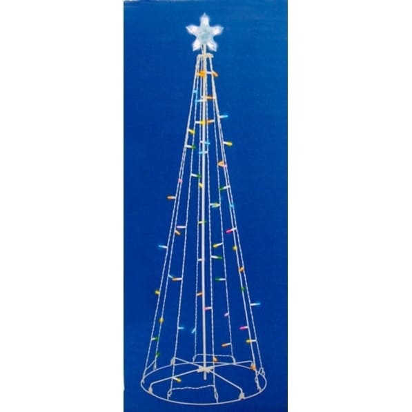 5 multi color led lighted multi function outdoor christmas tree yard - Led Lighted Outdoor Christmas Decorations