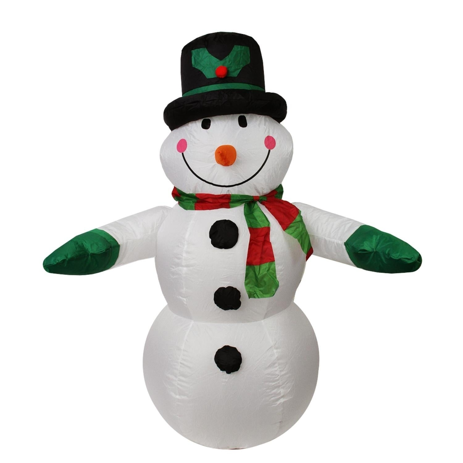 Lb International 4' Inflatable Lighted Snowman with Top H...