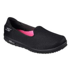 Women's Skechers GO MINI FLEX Walk Slip-On Walking Shoe Black