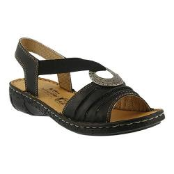 Women's Spring Step Karmel Slingback Black Leather
