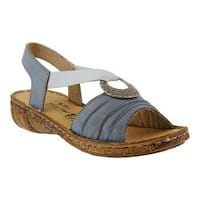 Women's Spring Step Karmel Slingback Denim Leather