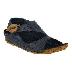 Women's Spring Step Lorelle Asymmetrical Sandal Blue Leather
