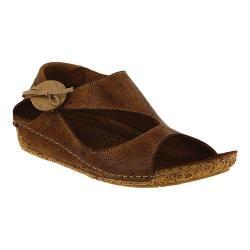 Women's Spring Step Lorelle Asymmetrical Sandal Brown Leather