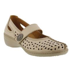 Women's Spring Step Lorona Mary Jane Beige Leather