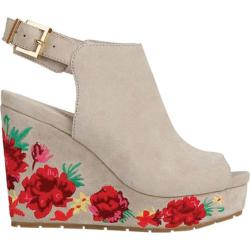 Women's Kenneth Cole New York Olani Floral Slingback Wedge Taupe Suede