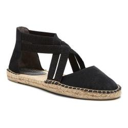 Women's Kenneth Cole Reaction How To Dance Espadrille Flat Black Fabric