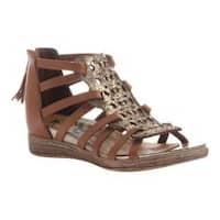Women's OTBT Bonitas Caged Sandal Gold Leather