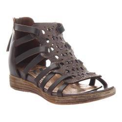 Women's OTBT Bonitas Caged Sandal Pewter Leather