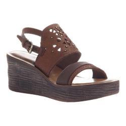 Women's OTBT Hippie Wedge Sandal Oak Leather