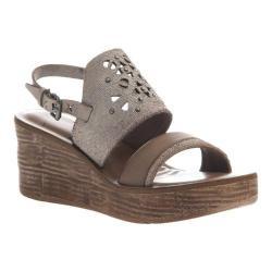 Women's OTBT Hippie Wedge Sandal Sport White Leather