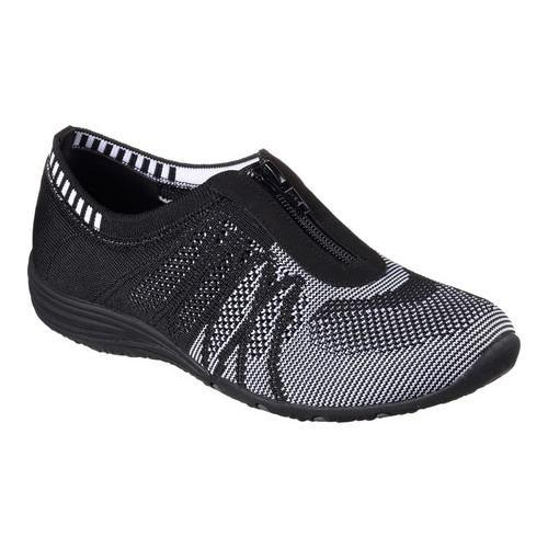 Women's Skechers Unity Transcend Zip-Up Sneaker Black/White