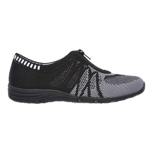 Women's Skechers Unity Transcend Zip-Up Sneaker Black/White - Thumbnail 1
