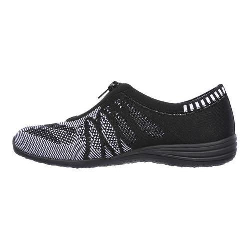 Women's Skechers Unity Transcend Zip-Up Sneaker Black/White - Thumbnail 2