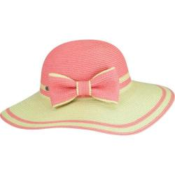Women's Betmar Mallory Wide Brim Hat Natural/Coral