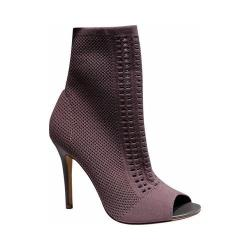 Women's Charles by Charles David Rebellious Open Toe Bootie Taupe Stretch Knit