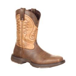 Men's Durango Boot DDB0109 11in UltraLite Western Boot Vintage Brown Full Grain Leather