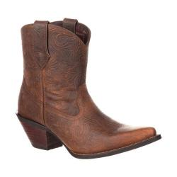 Women's Durango Boot DRD0166 Crush Western Embossed Bootie Vintage Brown Full Grain Leather