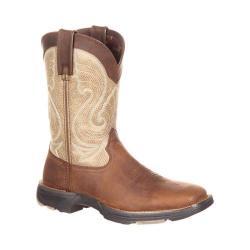 Women's Durango Boot DRD0182 UltraLite 10in Western Boot Coffee/Latte Full Grain Leather