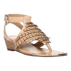 Women's Fergie Footwear Balance Wedge Sandal Sand Dune Leather