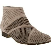 Women's Spring Step Sarani Perforated Bootie Grey Suede