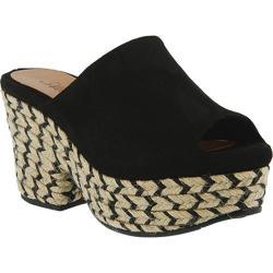 Women's Azura Elska Double Platform Sandal Black Synthetic Leather