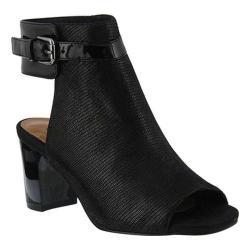 Women's Azura Voljeti Open-Toe Bootie Black Synthetic Leather