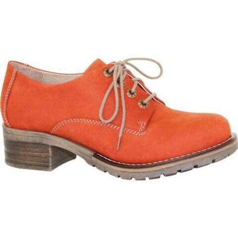 Women's Dromedaris Kaley Lug Sole Oxford Mandarin Leather