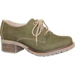 Women's Dromedaris Kaley Lug Sole Oxford Olive Leather (2 options available)