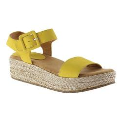 Women's Kenneth Cole Reaction Calm Water Platform Esapdrille Sandal Marigold Nubuck