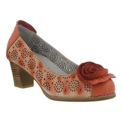 Women's L'Artiste by Spring Step Carmelita Pump Coral Leather