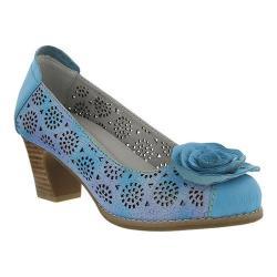 Women's L'Artiste by Spring Step Carmelita Pump Sky Blue Leather
