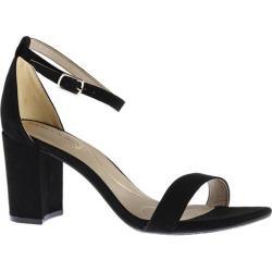 Women's Bandolino Armory Ankle Strap Sandal Black Faux Suede