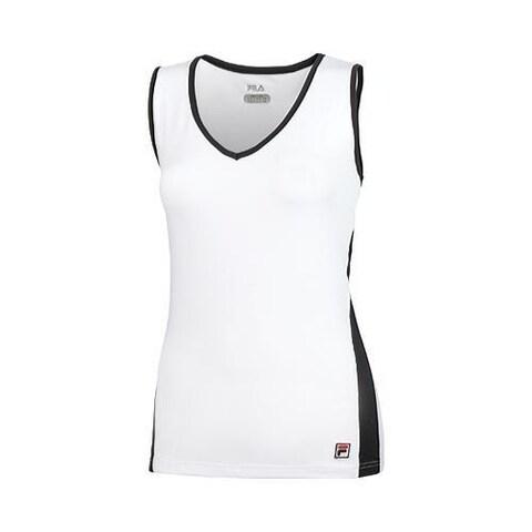 Women's Fila Essenza V-Neck Top White/Black
